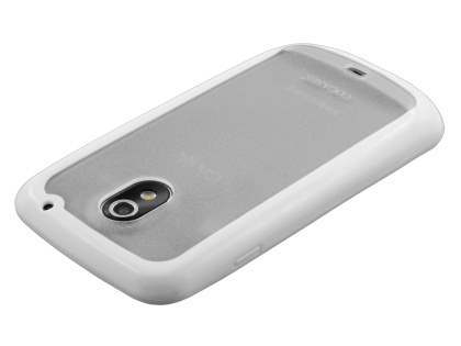 COCASES Dual-Design Case plus Screen Protector for Samsung I9250 Google Galaxy Nexus - White/Frosted Clear