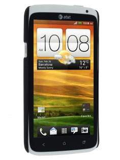 Vollter HTC One X / XL / X+ Ultra Slim Rubberised Case plus Screen Protector - Classic Black