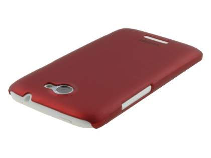 Vollter HTC One X / XL / X+ Ultra Slim Rubberised Case plus Screen Protector - Red