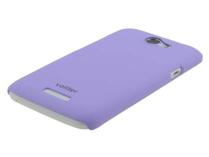 Vollter HTC One X / XL / X+ Ultra Slim Rubberised Case plus Screen Protector - Light Purple