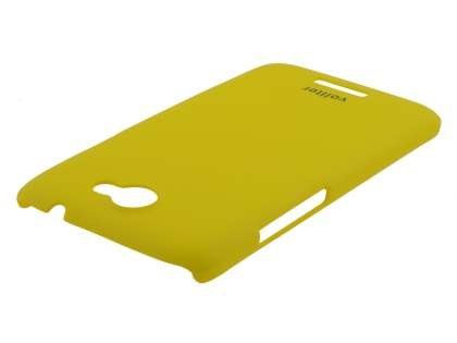 Vollter HTC One X / XL / X+ Ultra Slim Rubberised Case plus Screen Protector - Canary Yellow