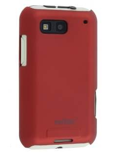 Vollter Motorola DEFY Ultra Slim Case plus Screen Protector - Red Hard Case