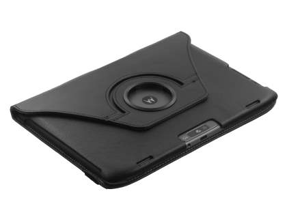 Premium Slim Synthetic Leather Swivel Flip Case for Motorola XOOM 2 10.1 - Black