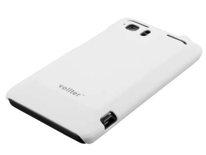 Vollter HTC Velocity 4G Ultra Slim Rubberised Case plus Screen Protector - Pearl White