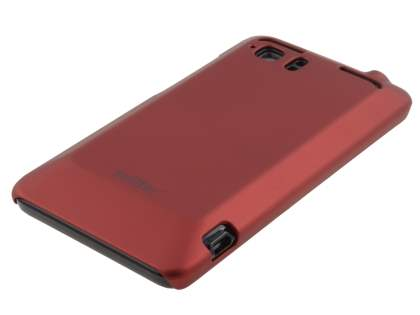 Vollter HTC Velocity 4G Ultra Slim Rubberised Case plus Screen Protector - Burgundy Red