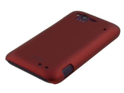 Vollter HTC Rhyme Ultra Slim Rubberised Case plus Screen Protector - Burgundy Red