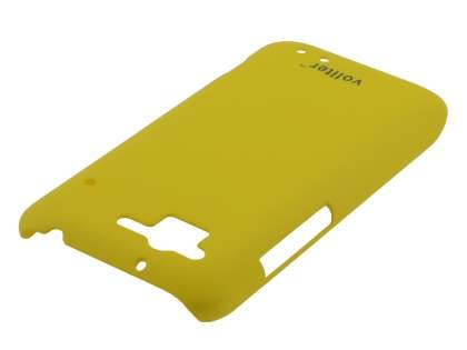 Vollter HTC Rhyme Ultra Slim Rubberised Case plus Screen Protector - Canary Yellow