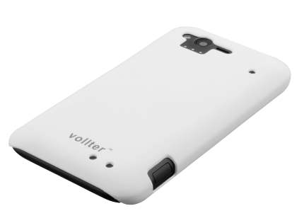 Vollter HTC Rhyme Ultra Slim Rubberised Case plus Screen Protector - Pearl White