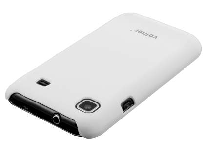 Vollter Samsung I9000 Galaxy S Ultra Slim Rubberised Case plus Screen Protector - Pearl White