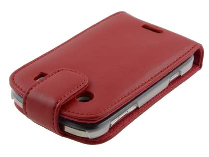 BlackBerry Bold 9900 Genuine Leather Flip Case - Red