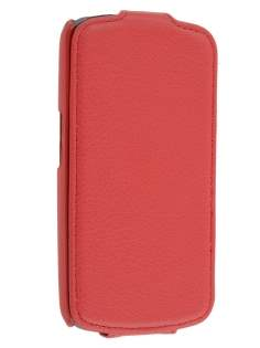 Samsung I9250 Galaxy Nexus Slim Synthetic Leather Flip Case - Red