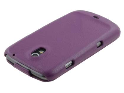 Samsung I9250 Galaxy Nexus Slim Synthetic Leather Flip Case - Purple