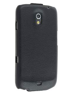Samsung I9250 Galaxy Nexus Slim Synthetic Leather Flip Case - Black Leather Flip Case