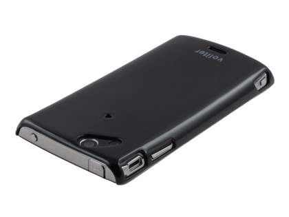 Vollter Ultra Slim Glossy Case plus Screen Protector for Sony Ericsson XPERIA Arc/Arc S - Classic Black