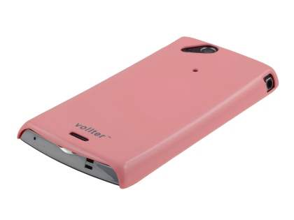 Vollter Ultra Slim Glossy Case plus Screen Protector for Sony Ericsson XPERIA Arc/Arc S - Baby Pink