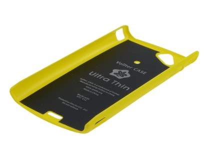 Vollter Ultra Slim Glossy Case plus Screen Protector for Sony Ericsson XPERIA Arc/Arc S - Canary Yellow
