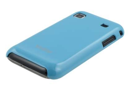 Vollter Ultra Slim Glossy Case plus Screen Protector for Samsung I9000 Galaxy S - Sky Blue