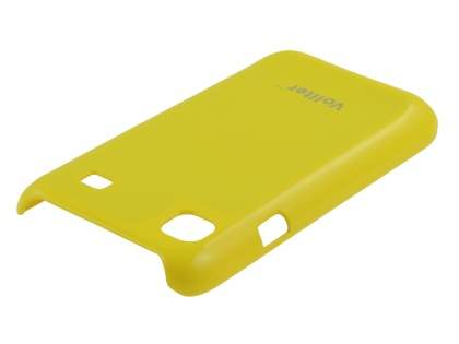 Vollter Ultra Slim Glossy Case plus Screen Protector for Samsung I9000 Galaxy S - Canary Yellow