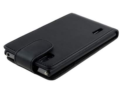 LG Prada 3.0 Synthetic Leather Flip Case - Classic Black