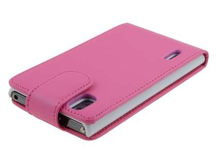LG Prada 3.0 Synthetic Leather Flip Case - Pink