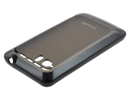 COCASES Dual-Design Case plus Screen Protector for HTC Velocity 4G - Black/Grey