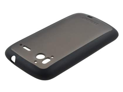 COCASES Dual-Design Case plus Screen Protector for HTC Sensation - Black/Grey