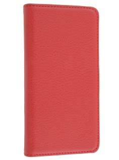 Sony Xperia S Slim Synthetic Leather Wallet Case with Stand - Red