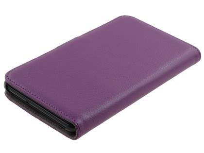 Samsung Galaxy Note Slim Synthetic Leather Wallet Case with Stand - Purple