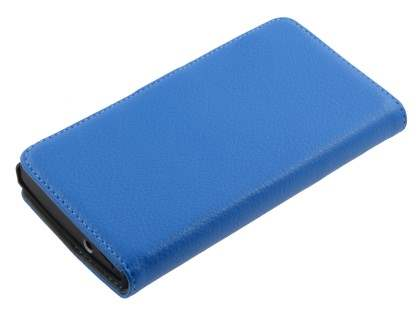 Sony Xperia S Slim Synthetic Leather Wallet Case with Stand - Blue