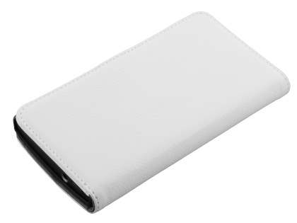 Sony Xperia S Slim Synthetic Leather Wallet Case with Stand - Pearl White