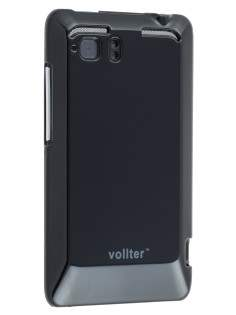 Vollter Ultra Slim Glossy Case plus Screen Protector for HTC Velocity 4G - Classic Black Hard Case