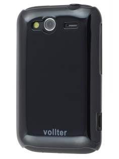 Vollter Ultra Slim Glossy Case for HTC Wildfire S - Classic Black Hard Case