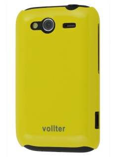 Vollter Ultra Slim Glossy Case for HTC Wildfire S - Canary Yellow Hard Case