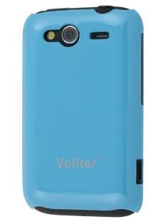 Vollter Ultra Slim Glossy Case for HTC Wildfire S - Sky Blue Hard Case