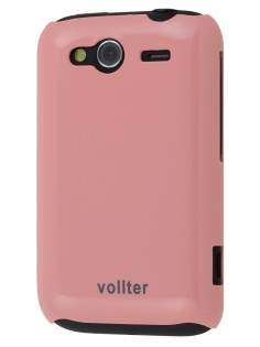 Vollter Ultra Slim Glossy Case for HTC Wildfire S - Baby Pink Hard Case