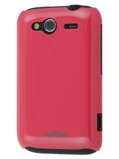 Vollter Ultra Slim Glossy Case for HTC Wildfire S - Amaranth Red Hard Case