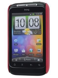 Vollter Ultra Slim Glossy Case plus Screen Protector for HTC Wildfire S - Amaranth Red