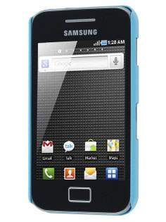 Vollter Ultra Slim Glossy Case plus Screen Protector for Samsung Galaxy Ace S5830 - Sky Blue