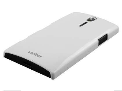 Vollter Ultra Slim Glossy Case for Sony Xperia S - Pearl White