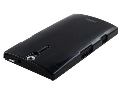 Vollter Ultra Slim Glossy Case plus Screen Protector for Sony Xperia S - Classic Black