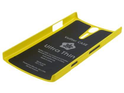 Vollter Ultra Slim Glossy Case plus Screen Protector for Sony Xperia S - Canary Yellow