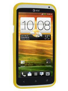 IPODA Glossy Gel Case for HTC One X / XL / X+ - Canary Yellow