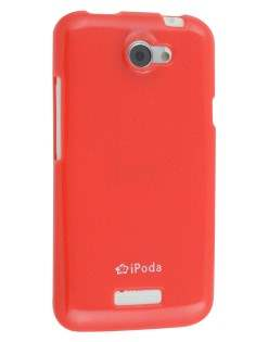 IPODA Glossy Gel Case for HTC One X / XL / X+ - Red