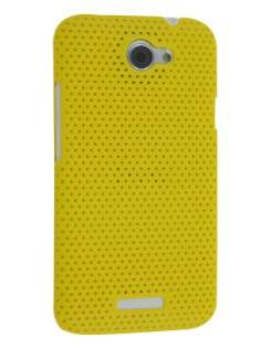 HTC One X / XL / X+ Slim Mesh Case - Canary Yellow Hard Case