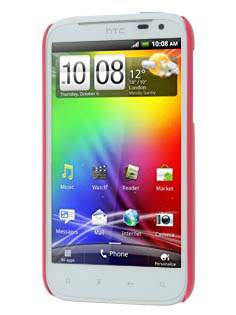 Vollter Ultra Slim Glossy Case plus Screen Protector for HTC Sensation XL - Amaranth Red