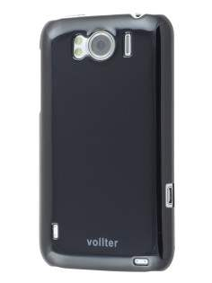Vollter Ultra Slim Glossy Case plus Screen Protector for HTC Sensation XL - Classic Black