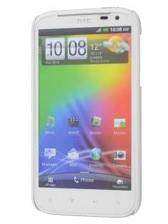 Vollter Ultra Slim Glossy Case plus Screen Protector for HTC Sensation XL - Pearl White