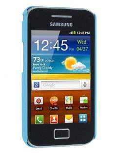Vollter Samsung Galaxy Ace S5830 Ultra Slim Rubberised Case plus Screen Protector - Sky Blue