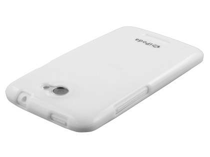 IPODA Glossy Gel Case for HTC One X / XL / X+ - Pearl White