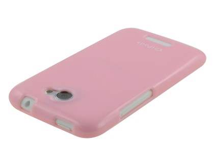 IPODA Glossy Gel Case for HTC One X / XL / X+ - Baby Pink